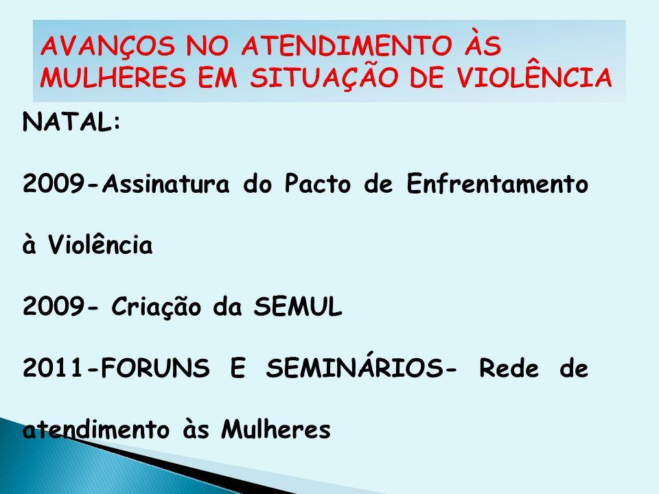 AVANÇOS NO ATENDIMENTO ÀS MULHERES EM SITUAÇÃO DE VIOLÊNCIA