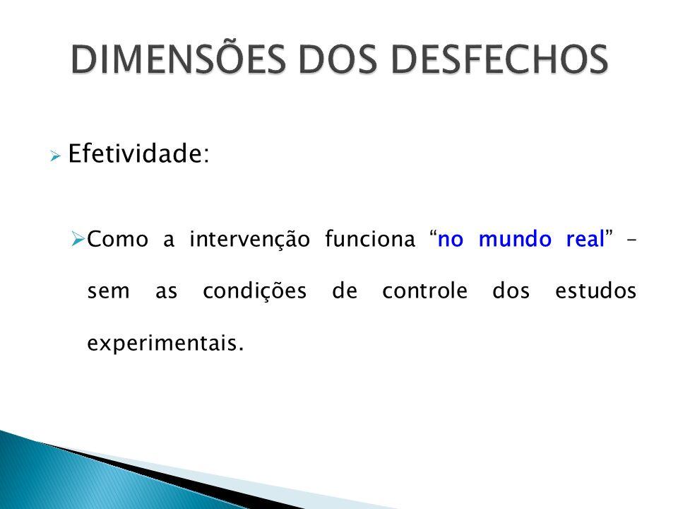 DIMENSÕES DOS DESFECHOS
