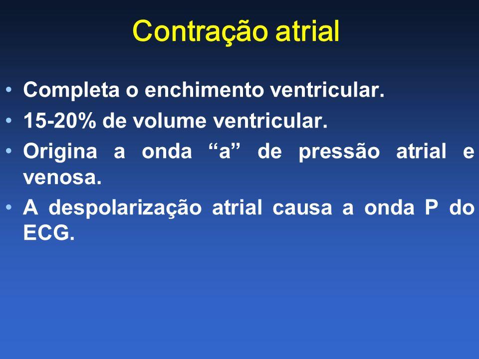 Contração atrial Completa o enchimento ventricular.