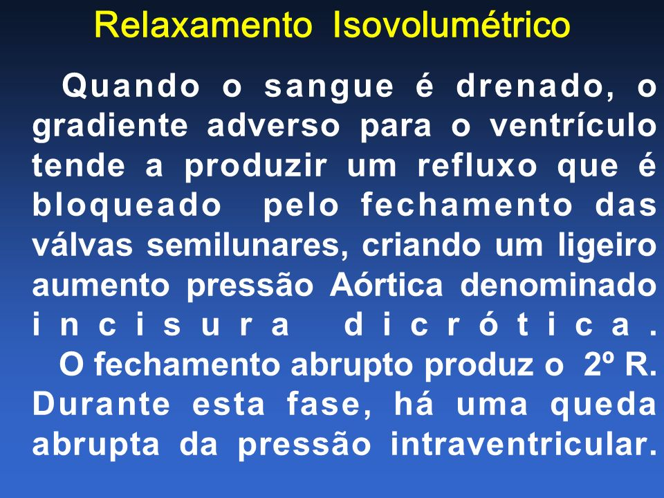 Relaxamento Isovolumétrico