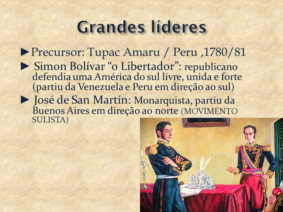 Grandes líderes ►Precursor: Tupac Amaru / Peru ,1780/81