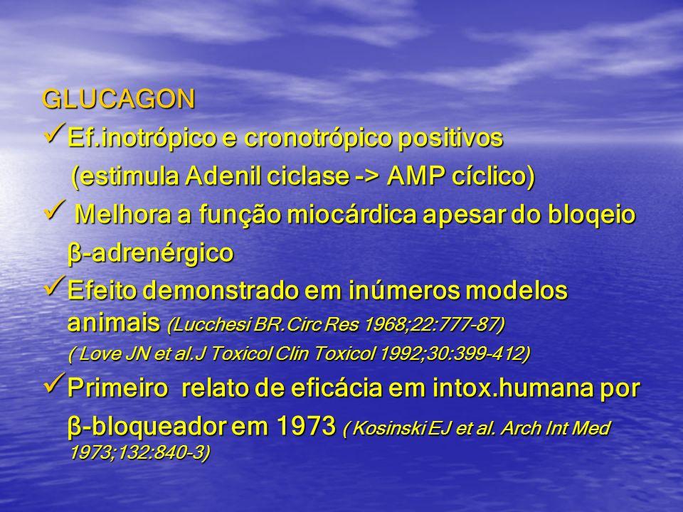 Ef.inotrópico e cronotrópico positivos