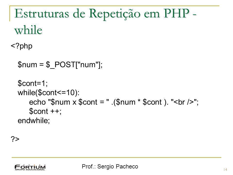 Estruturas de Repetição em PHP - while