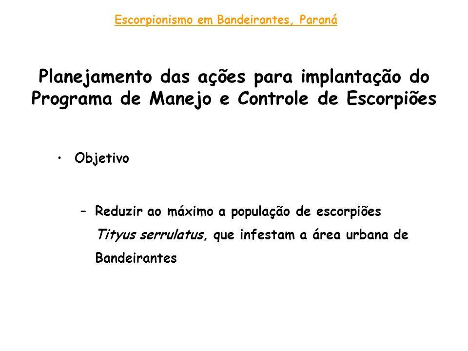 Escorpionismo em Bandeirantes, Paraná