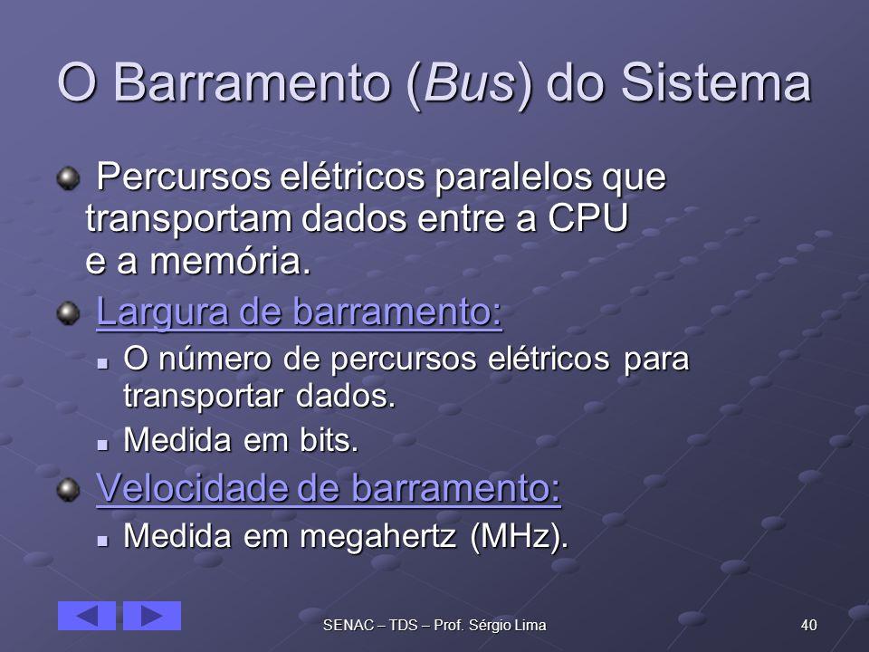 O Barramento (Bus) do Sistema