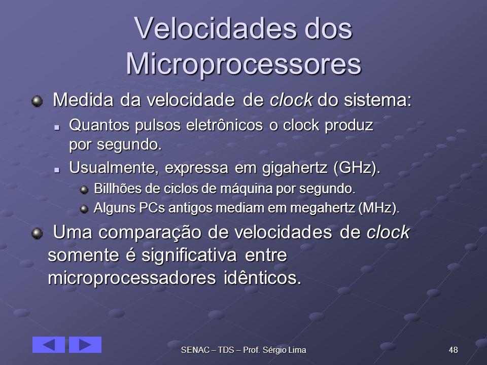Velocidades dos Microprocessores