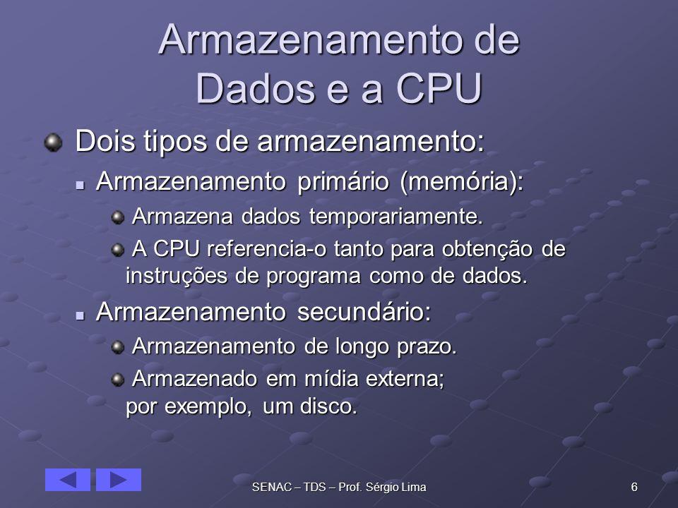 Armazenamento de Dados e a CPU