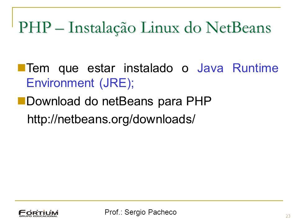 PHP – Instalação Linux do NetBeans