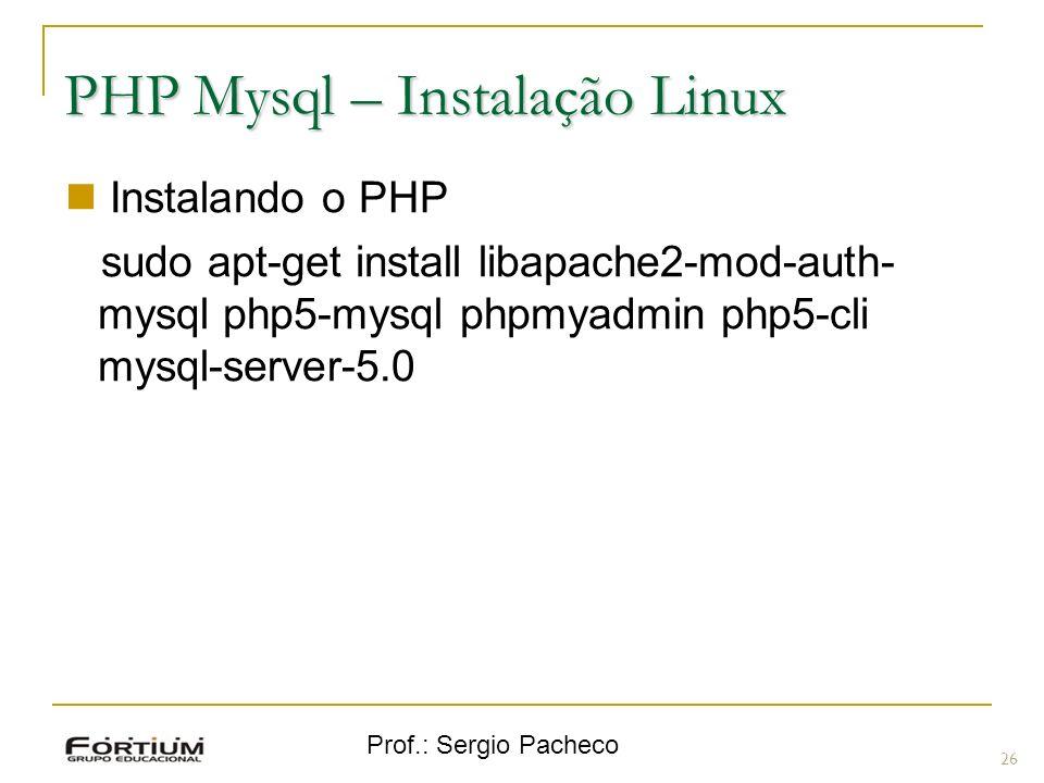 PHP Mysql – Instalação Linux