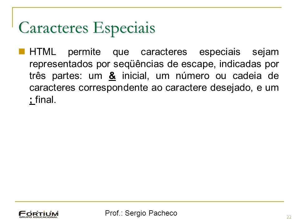 Caracteres Especiais