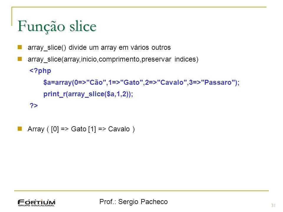 Função slice array_slice() divide um array em vários outros
