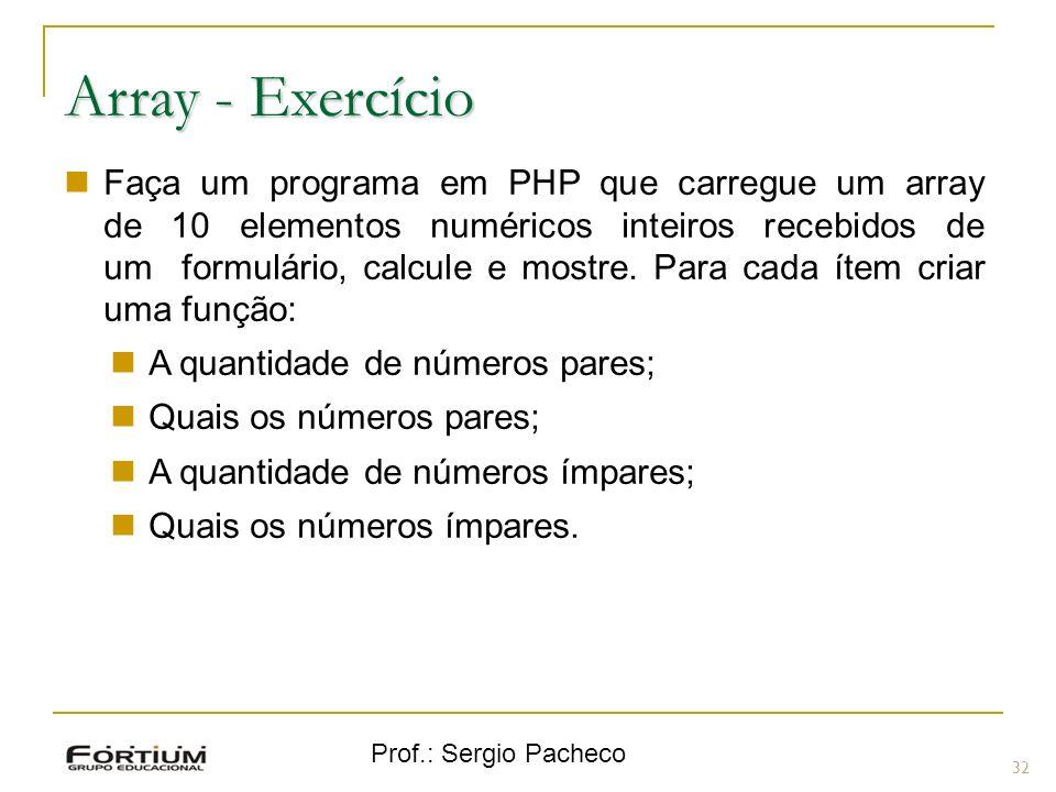Array - Exercício