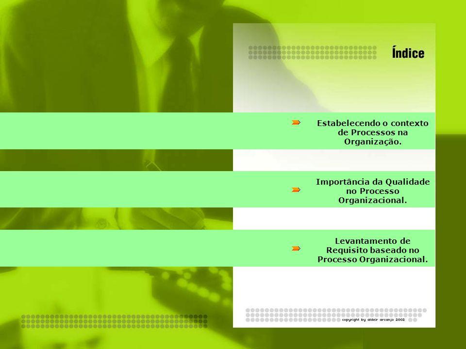 Estabelecendo o contexto de Processos na Organização.