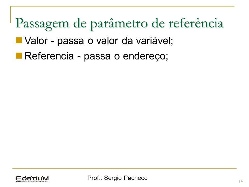Passagem de parâmetro de referência