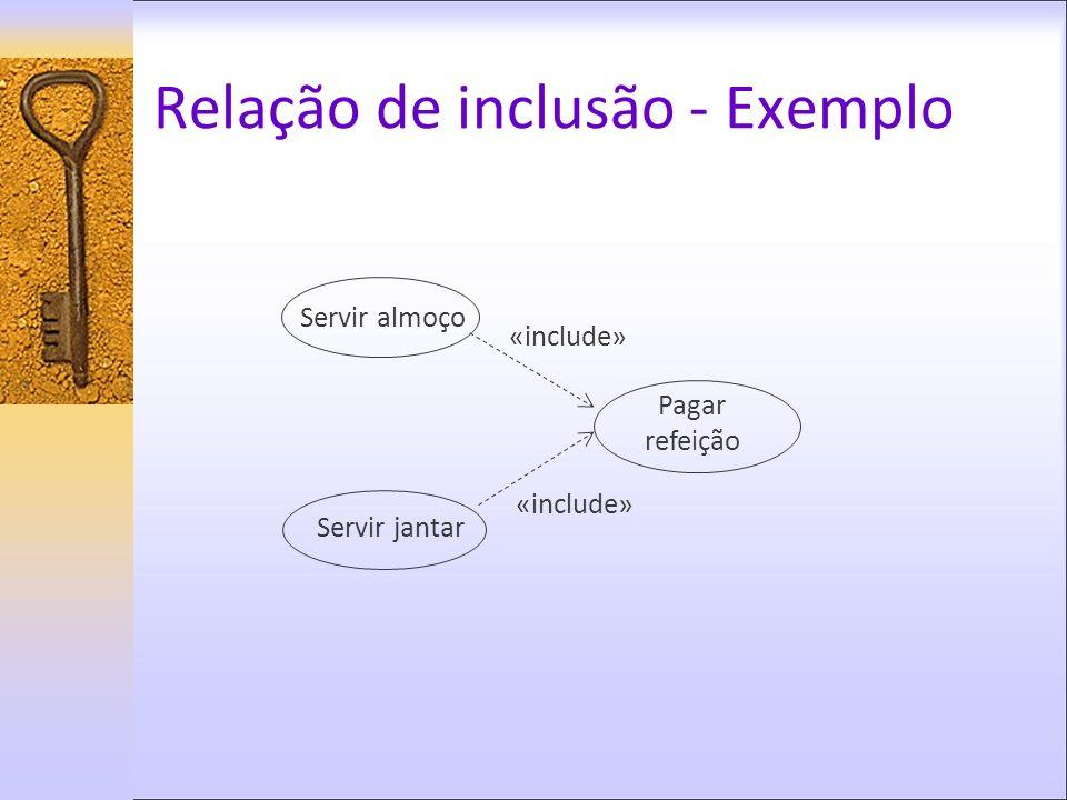 Relação de inclusão - Exemplo