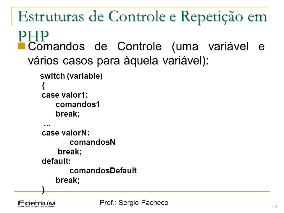 Estruturas de Controle e Repetição em PHP