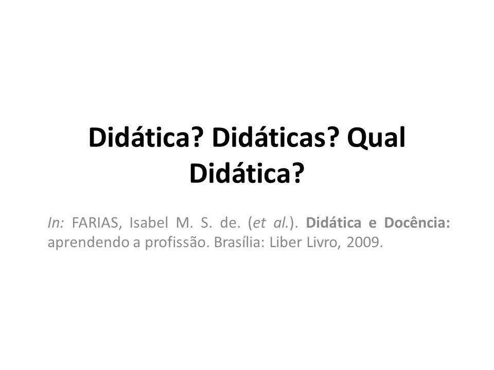 Didática Didáticas Qual Didática
