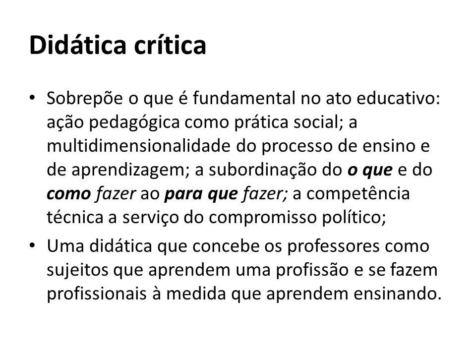 Didática crítica