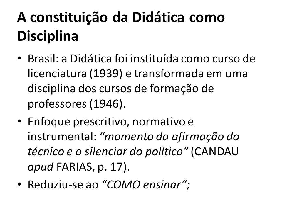 A constituição da Didática como Disciplina