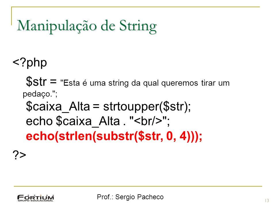 Manipulação de String < php