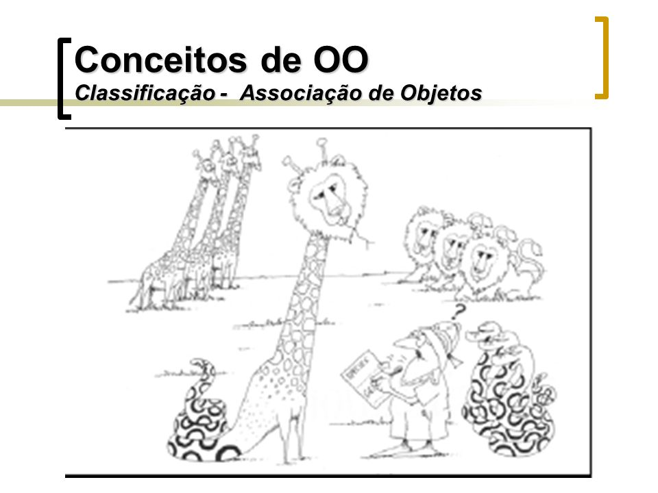Conceitos de OO Classificação - Associação de Objetos