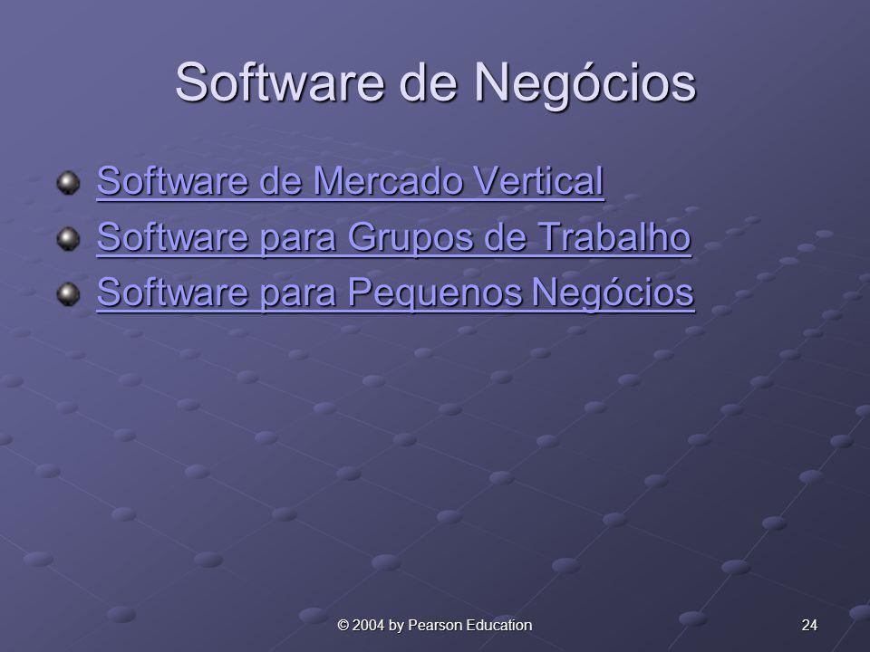 Software de Negócios Software de Mercado Vertical