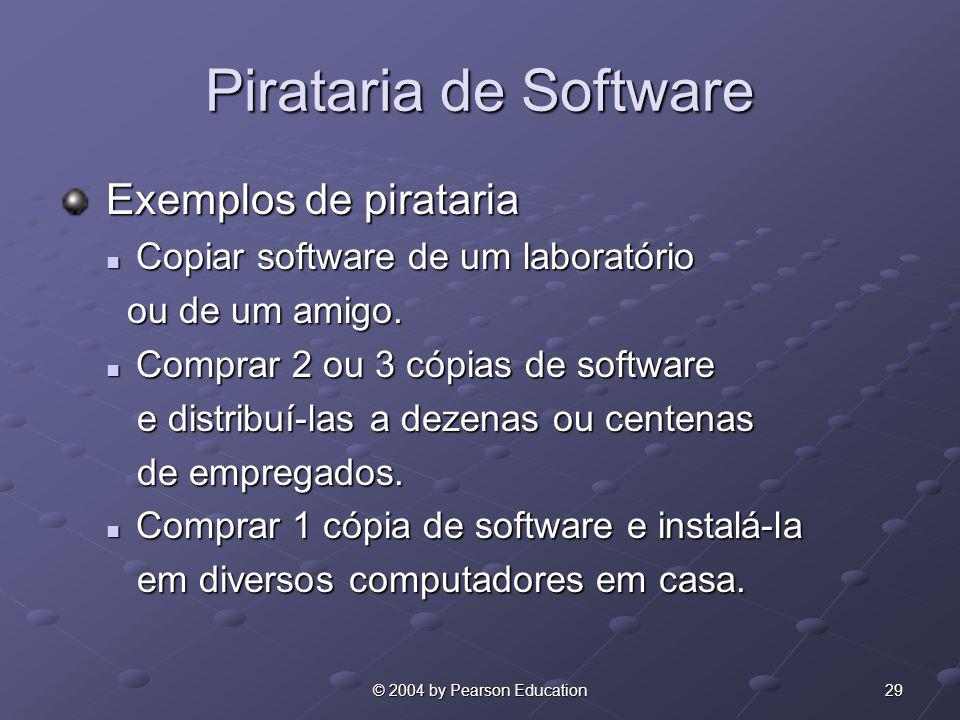 Pirataria de Software Exemplos de pirataria