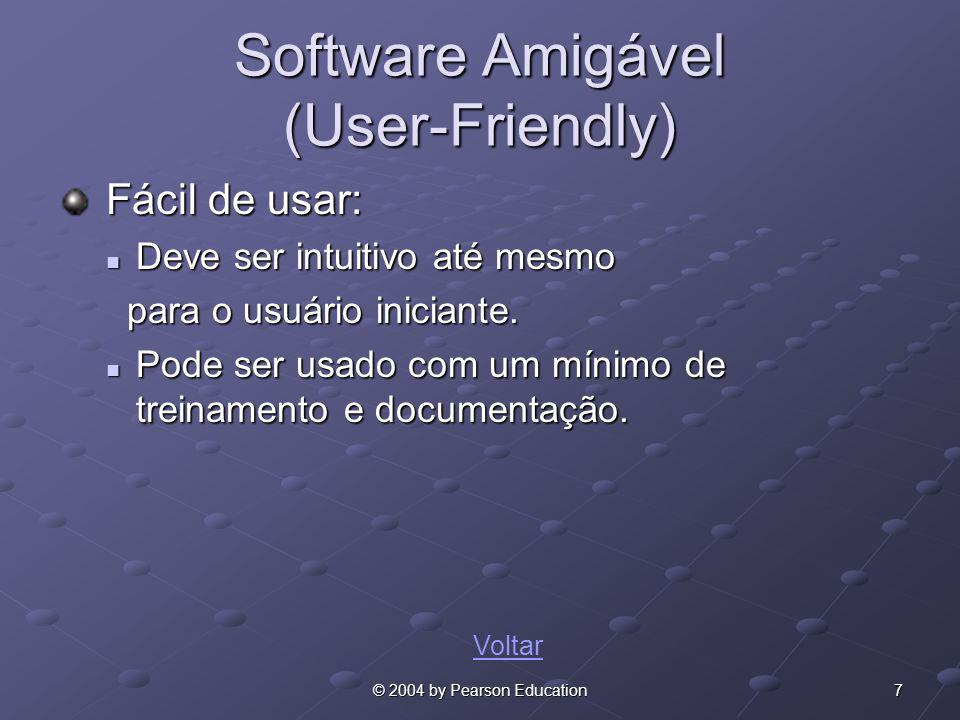 Software Amigável (User-Friendly)