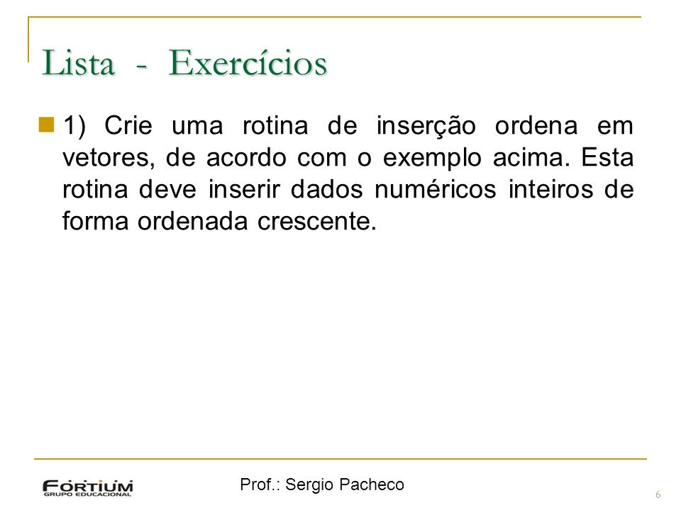 Lista - Exercícios