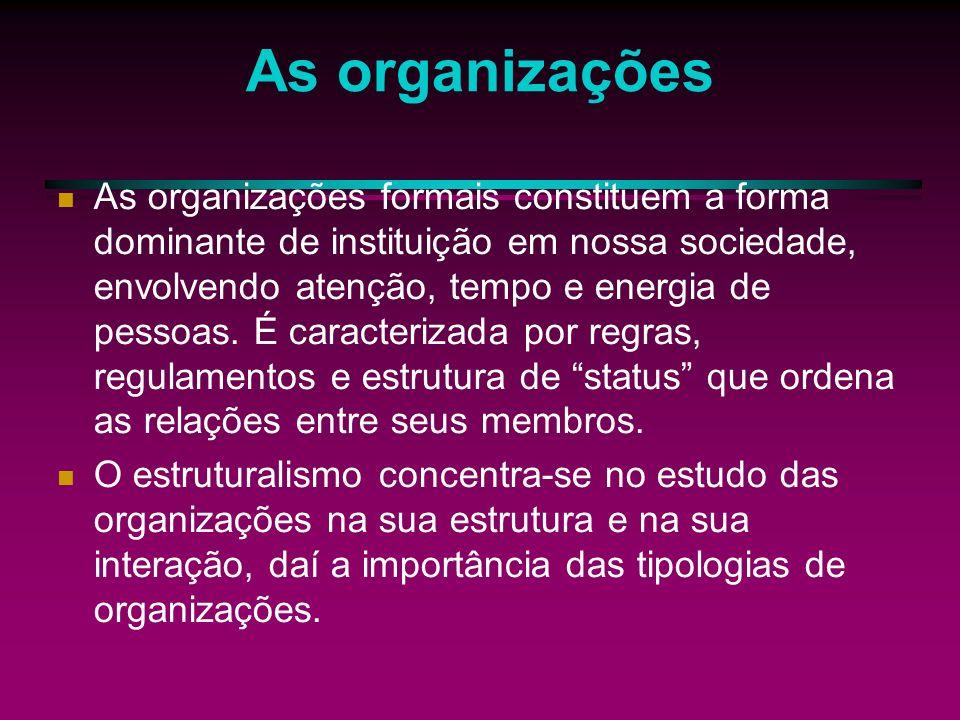 As organizações