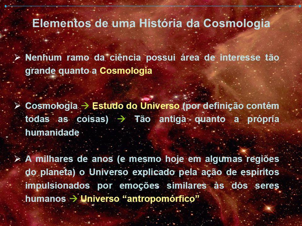 Elementos de uma História da Cosmologia