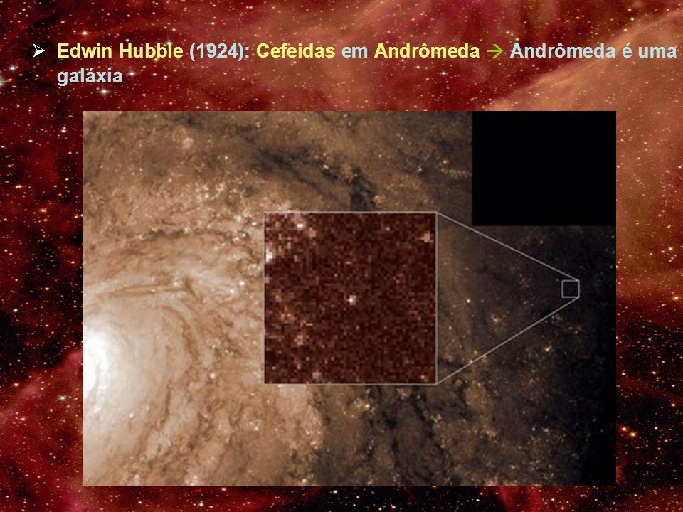 Edwin Hubble (1924): Cefeidas em Andrômeda  Andrômeda é uma galáxia
