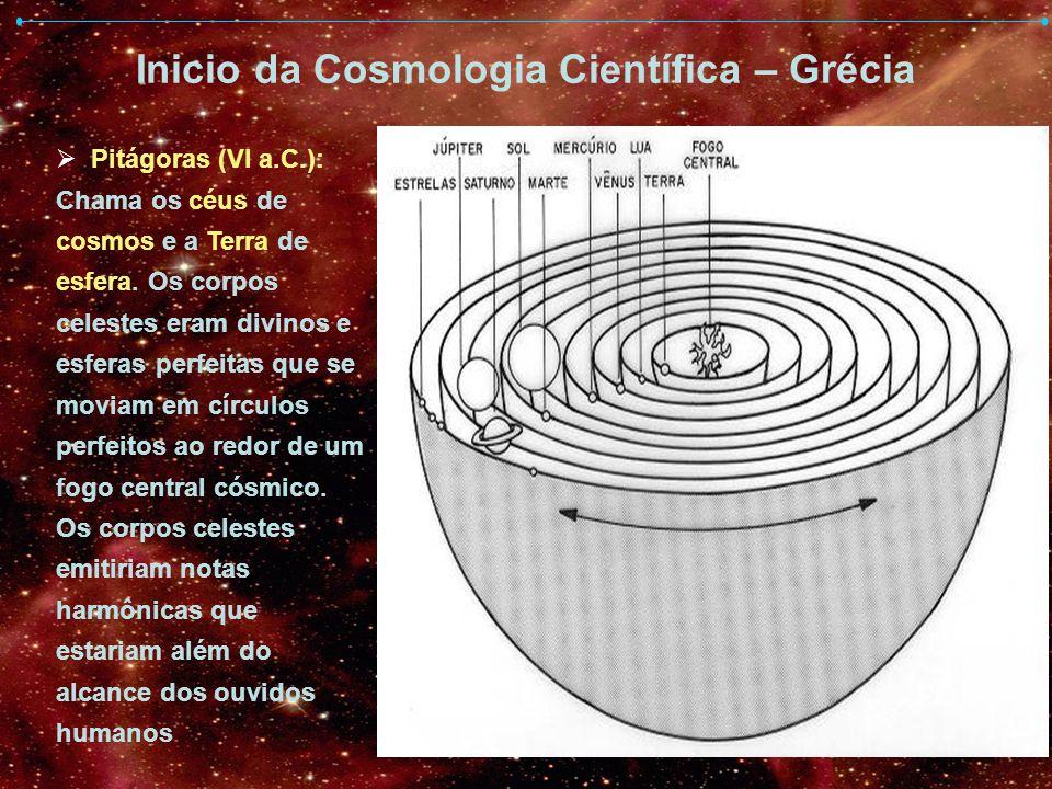 Inicio da Cosmologia Científica – Grécia