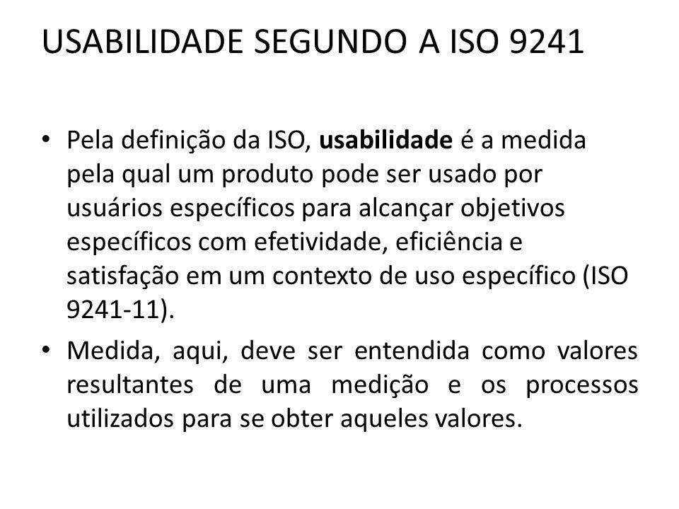USABILIDADE SEGUNDO A ISO 9241