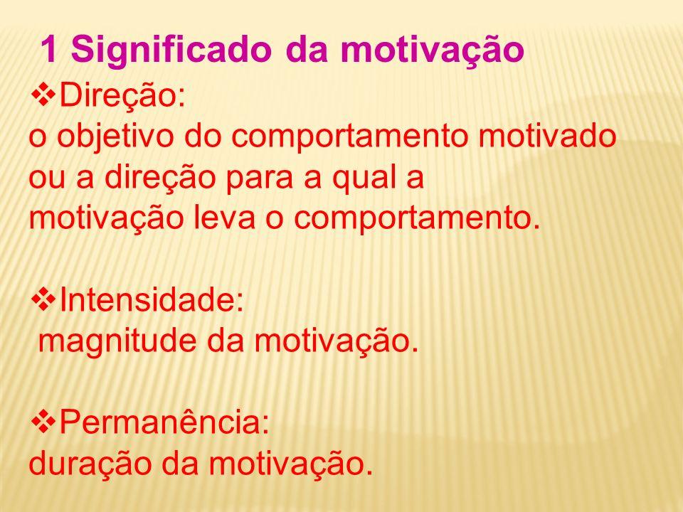 1 Significado da motivação