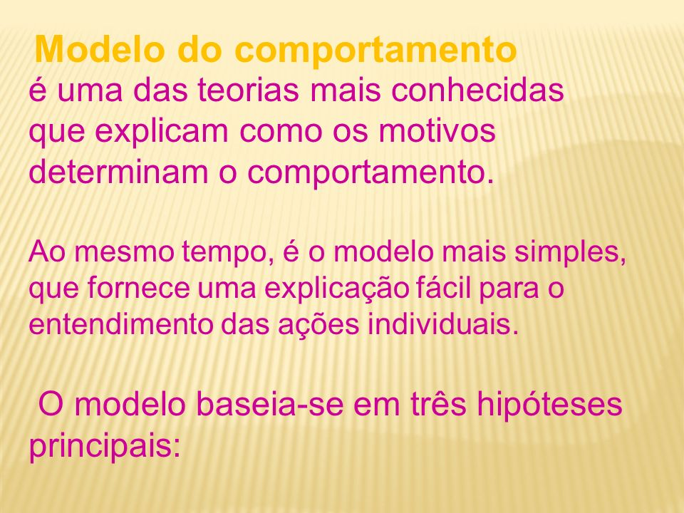 Modelo do comportamento