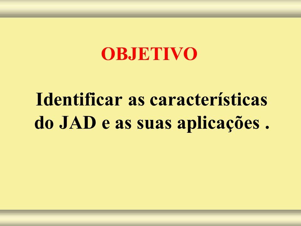 Identificar as características do JAD e as suas aplicações .