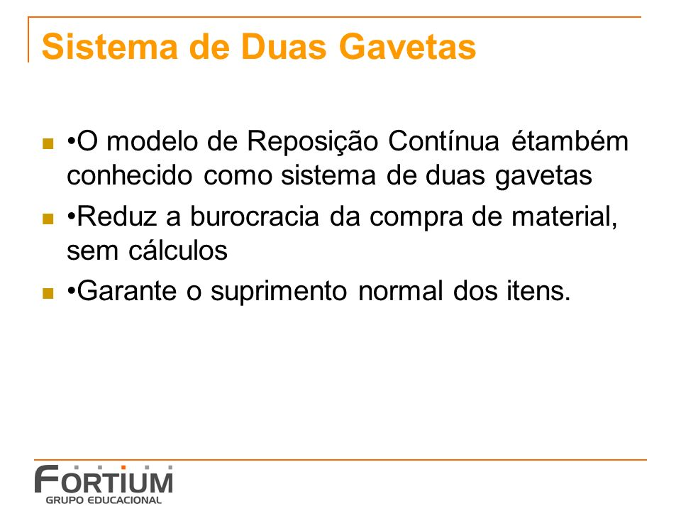 Sistema de Duas Gavetas