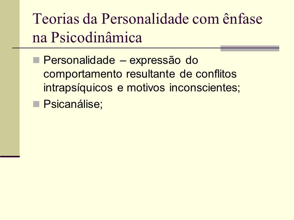 Teorias da Personalidade com ênfase na Psicodinâmica