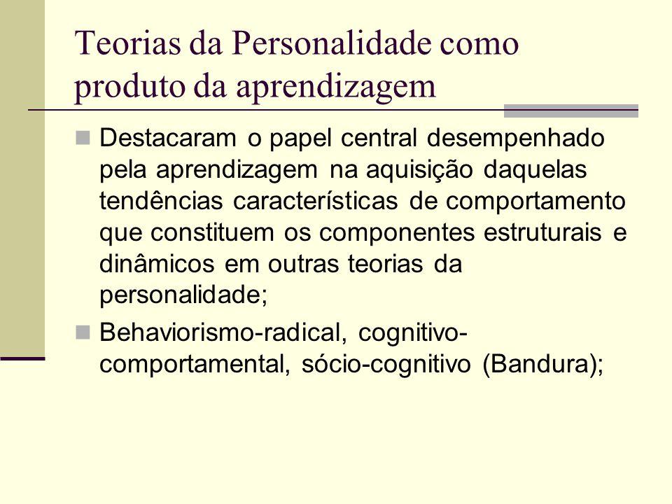 Teorias da Personalidade como produto da aprendizagem