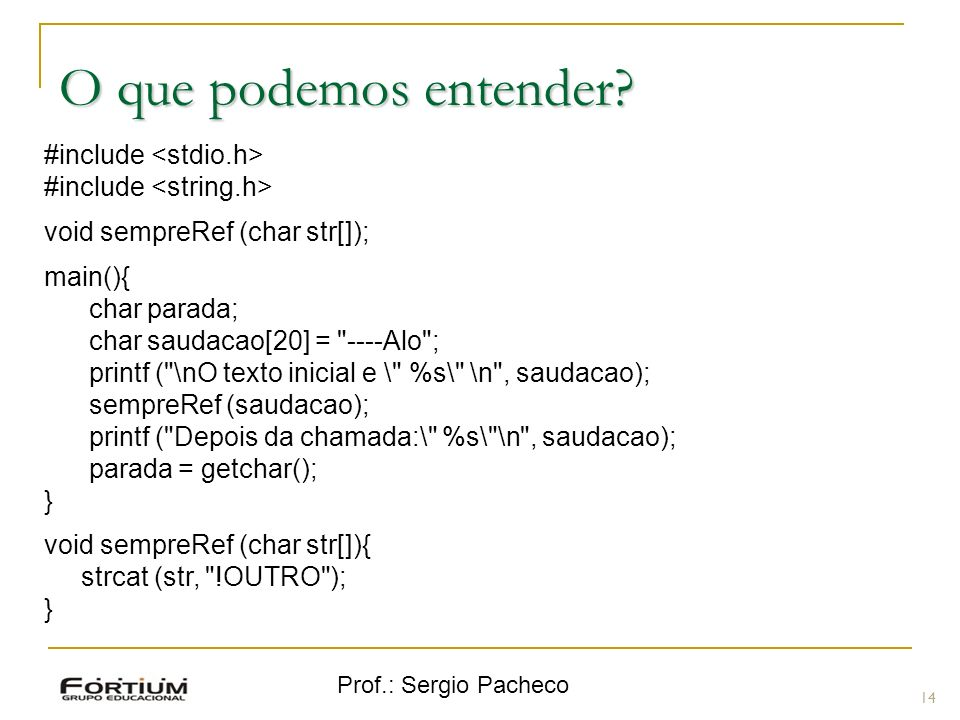O que podemos entender #include <stdio.h>