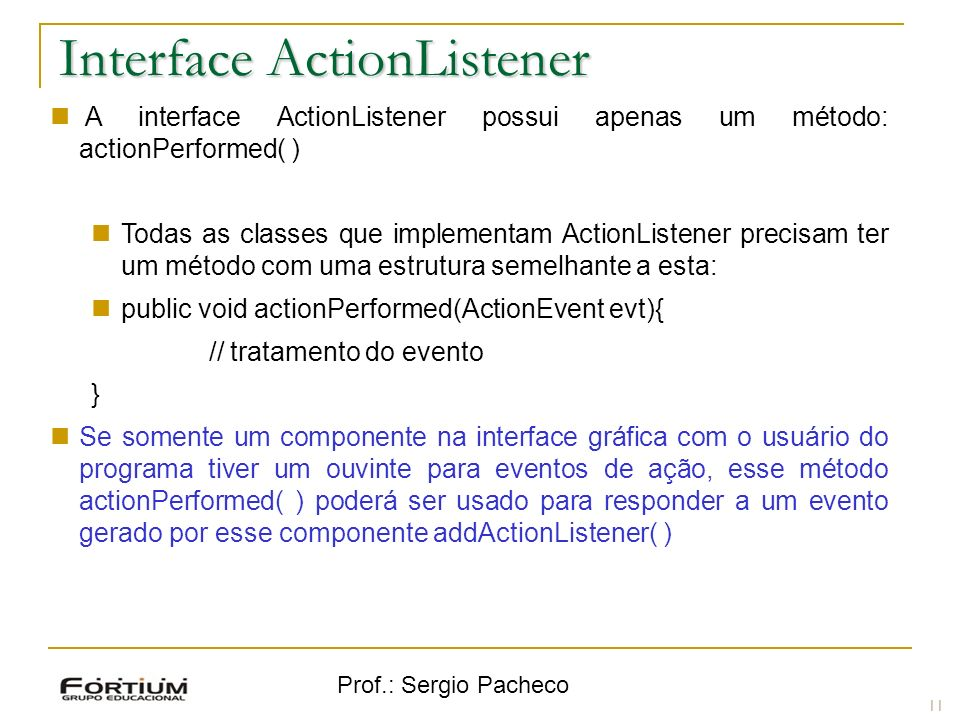 Interface ActionListener