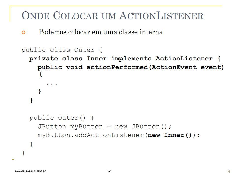 Eventos - Implementar Prof.: Sergio Pacheco 14 14