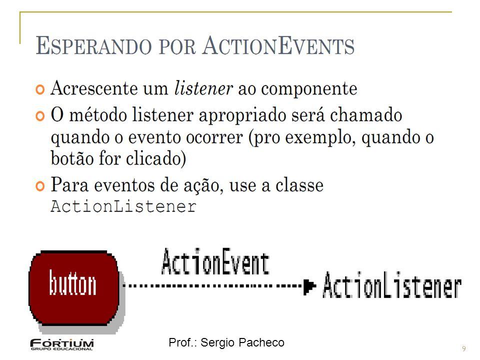 Eventos - Hierarquia Prof.: Sergio Pacheco 9 9