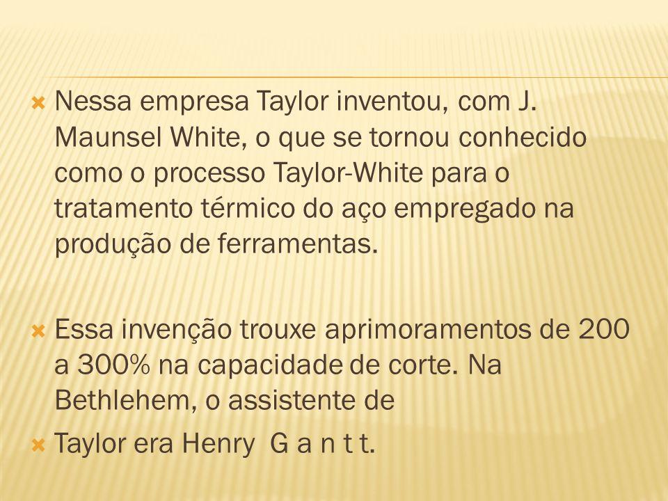 Nessa empresa Taylor inventou, com J