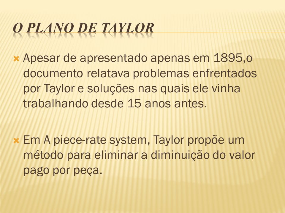 O plano de Taylor