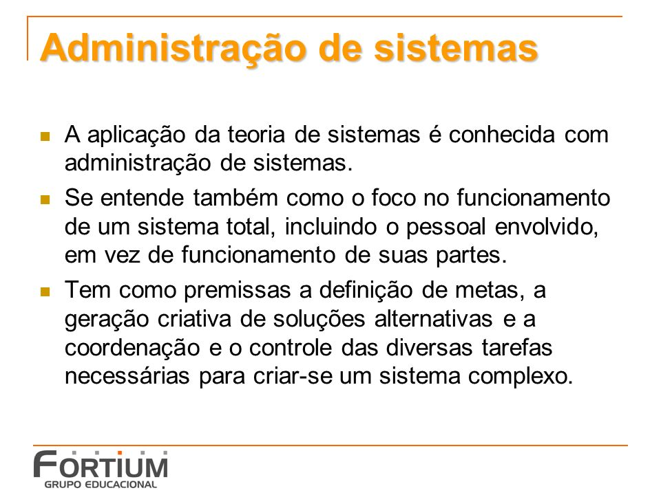 Administração de sistemas