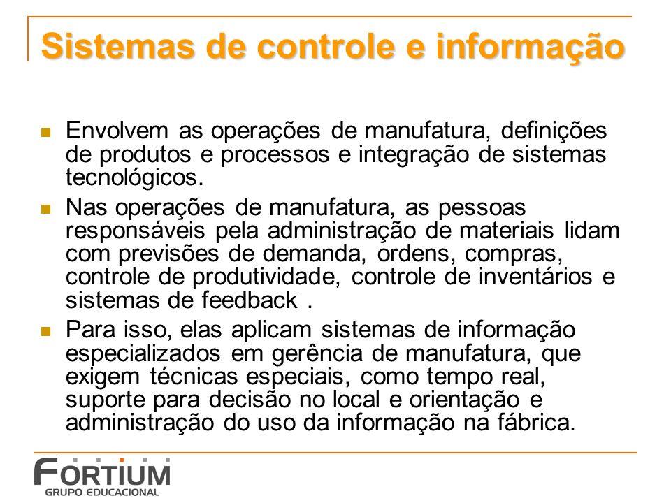 Sistemas de controle e informação