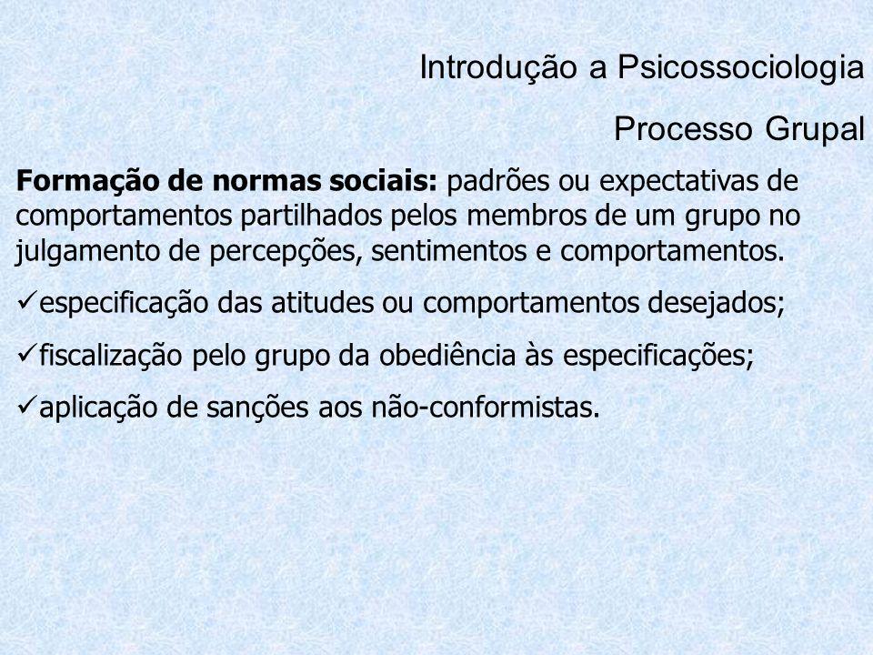 Introdução a Psicossociologia Processo Grupal