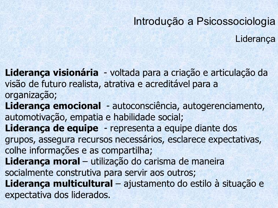 Introdução a Psicossociologia